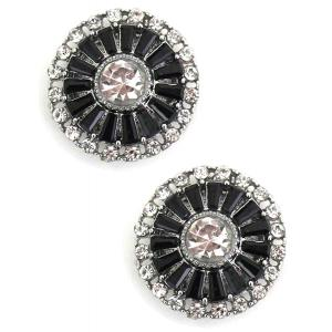 wholesale Magnetic Brooches - Small Double Sided MB402 Black (Double Sided) -