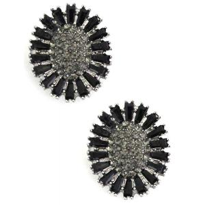 wholesale Magnetic Brooches - Small Double Sided MB403 Black (Double Sided) -