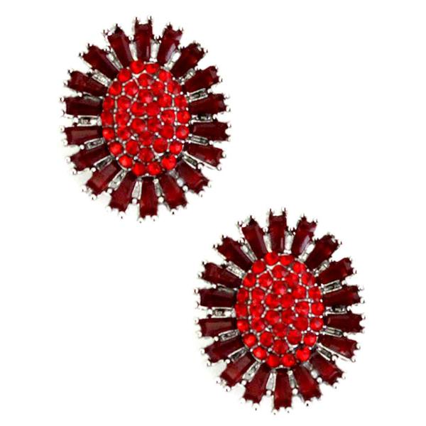 Magnetic Brooches - Small Double Sided MB403 Red (Double Sided) -