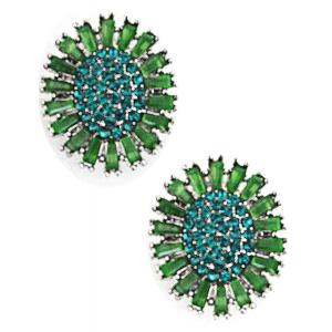 wholesale Magnetic Brooches - Small Double Sided MB403 Green (Double Sided) -