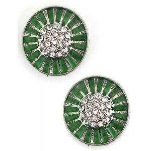 wholesale Magnetic Brooches - Small Double Sided MB404 Green (Double Sided) -