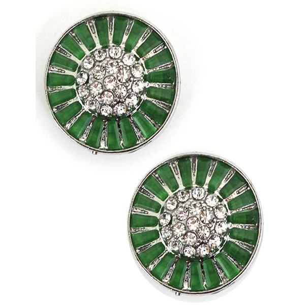 Magnetic Brooches - Small Double Sided MB404 Green (Double Sided) -