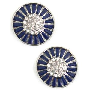wholesale Magnetic Brooches - Small Double Sided MB404 Blue (Double Sided) -