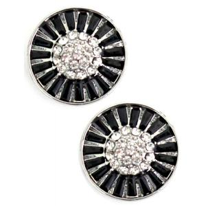 wholesale Magnetic Brooches - Small Double Sided MB404 Black (Double Sided) -