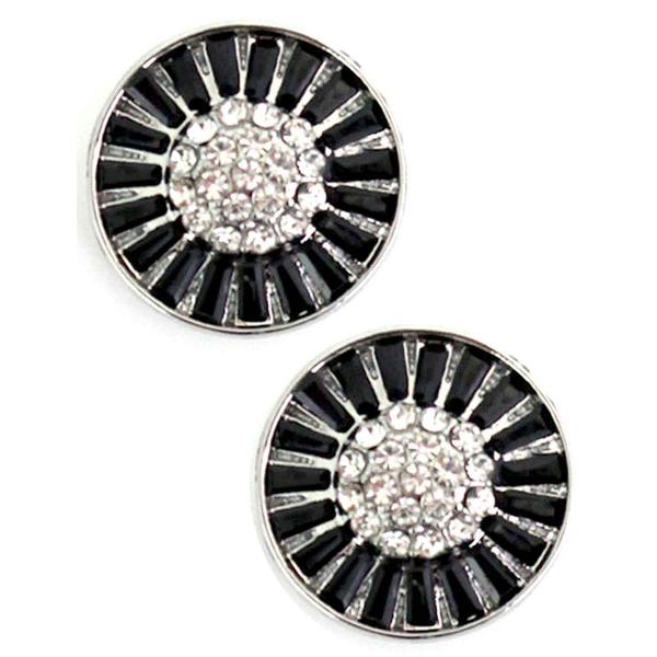 Magnetic Brooches - Small Double Sided MB404 Black (Double Sided) -