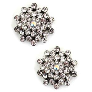 wholesale Magnetic Brooches - Small Double Sided MB405 Clear (Double Sided) -