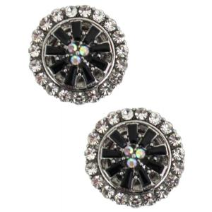 wholesale Magnetic Brooches - Small Double Sided MB406 Black (Double Sided) -