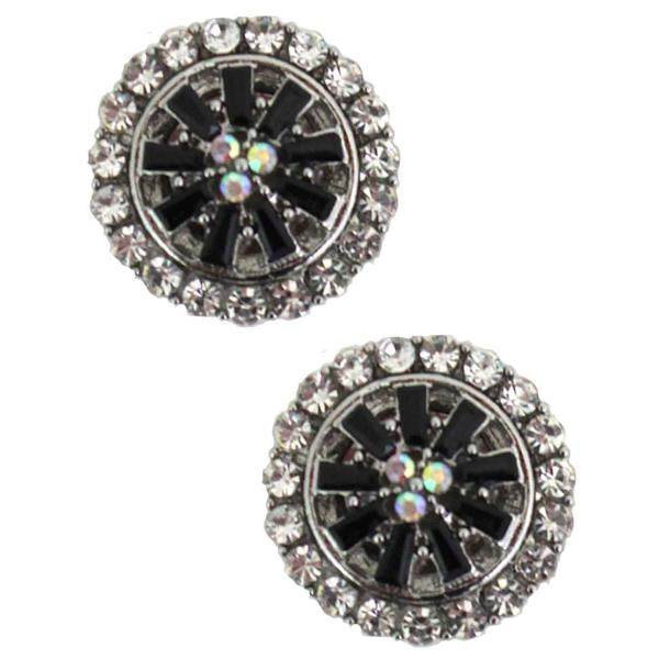 Magnetic Brooches - Small Double Sided MB406 Black (Double Sided) -
