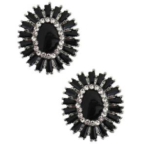 wholesale Magnetic Brooches - Small Double Sided MB407 Black (Double Sided) -