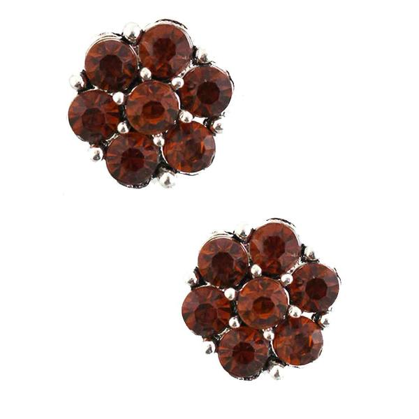 Magnetic Brooches - Small Double Sided MB307 Burnt Orange (Double Sided) -