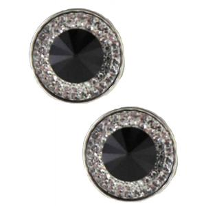 wholesale Magnetic Brooches - Small Double Sided MB372 Black (Double Sided) -