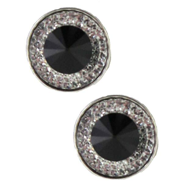 Magnetic Brooches - Small Double Sided MB372 Black (Double Sided) -