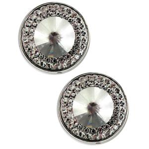 wholesale Magnetic Brooches - Small Double Sided MB372 Clear (Double Sided) -