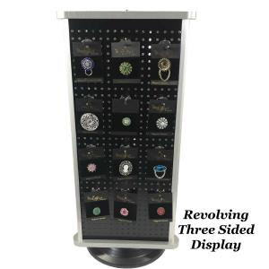 wholesale Magnetic Brooches - Small Double Sided Revolving Three Sided Display -