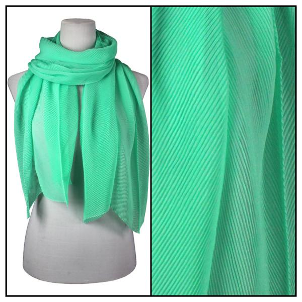 wholesale Oblong Scarves - Pleated* Mint -