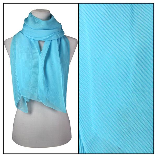 wholesale Oblong Scarves - Pleated* Light Turquoise -