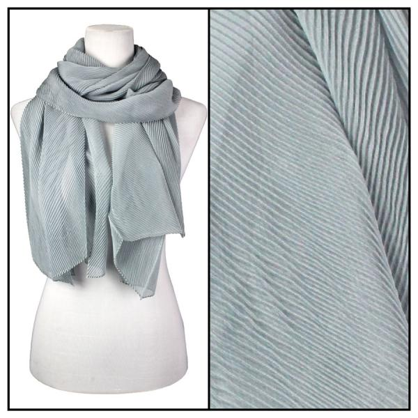 wholesale Oblong Scarves - Pleated* Silver -