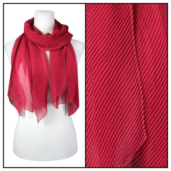 wholesale Oblong Scarves - Pleated* Burgundy -