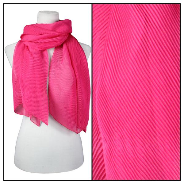wholesale Oblong Scarves - Pleated* Hot Pink -