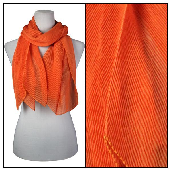 wholesale Oblong Scarves - Pleated* Orange -