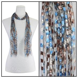 wholesale Oblong Scarves - Vermont Waterfall 002 Western Blue -