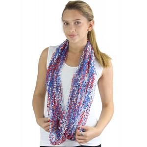 wholesale Red, White and Blue Infinity Scarves - Confetti 26791 - USA -