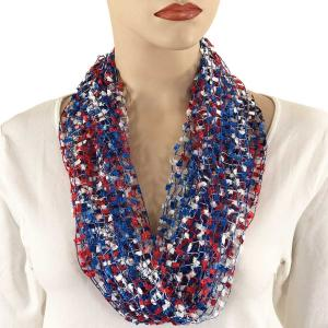 wholesale Red, White and Blue Confetti Necklace with Magnetic Clasp - USA -