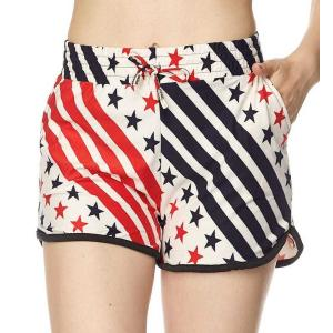 wholesale Red, White and Blue Americana Shorts (Brushed Fiber S-M -