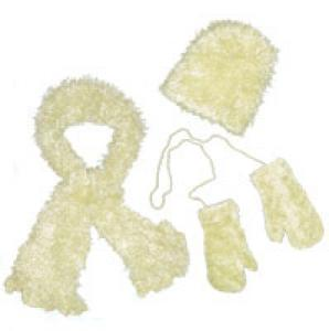 Wholesale  Baby Yellow Childs Moa Boa Magic Scarf Set -