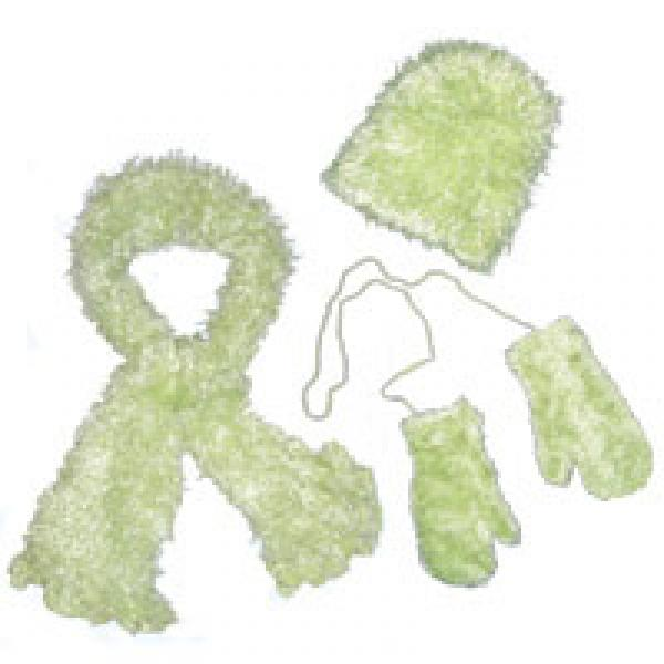 wholesale Childrens Moa Boa Magic Scarf Sets Baby Green Childs Moa Boa Magic Scarf Set -