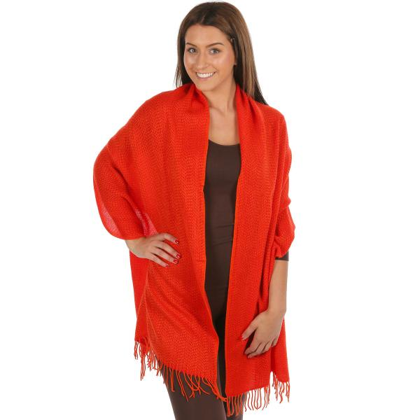 wholesale C Shawls - Herringbone 1004 Red Shawl - Herringbone 1004 -