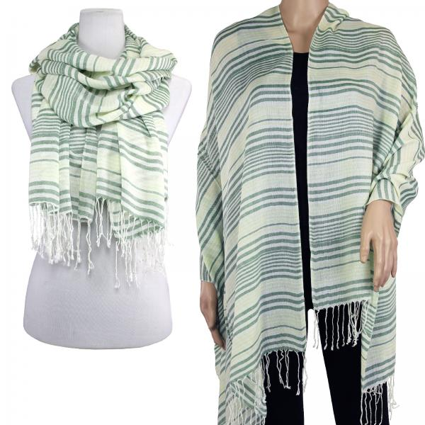 wholesale Big Scarves/Shawls - Multi Stripe 1039* Olive-Yellow -