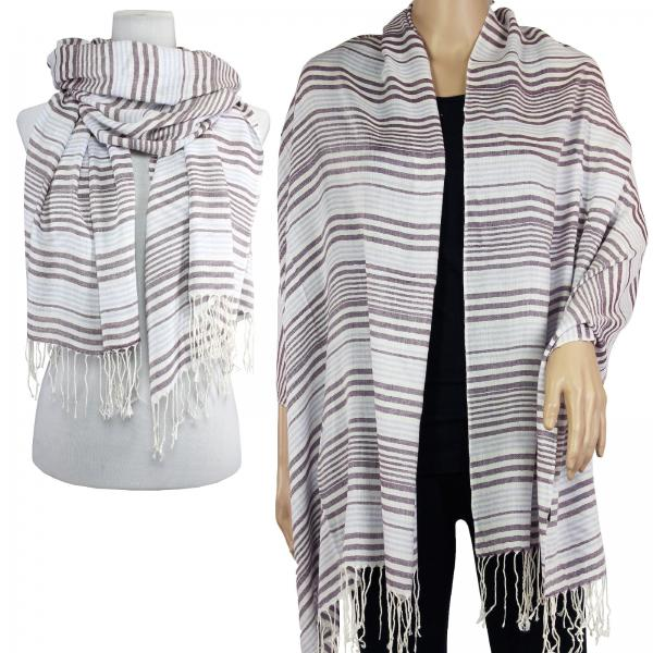 wholesale Big Scarves/Shawls - Multi Stripe 1039* Purple -