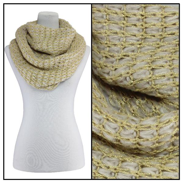 Infinity Scarves - Metallic Thread 164* Ivory -