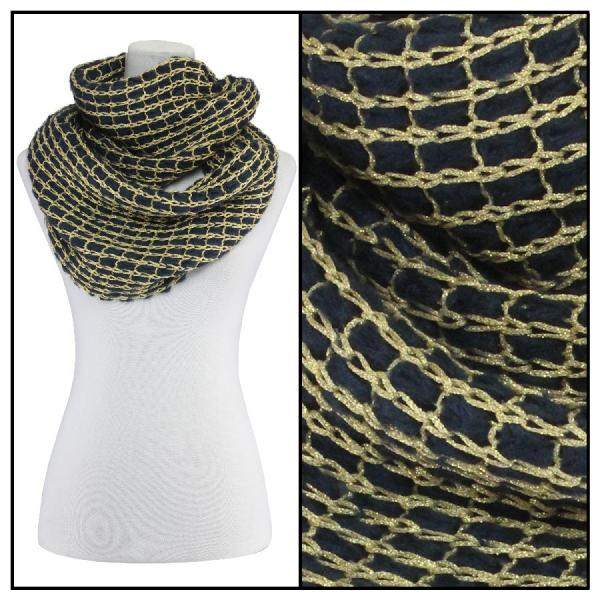Infinity Scarves - Metallic Thread 164* Navy -
