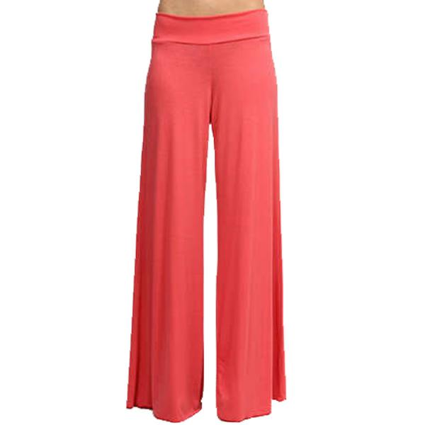 wholesale Palazzo Pants Solid Coral MB - M