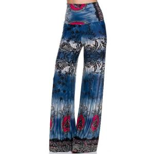 Wholesale  #H89 Blue Palazzo Pants - L