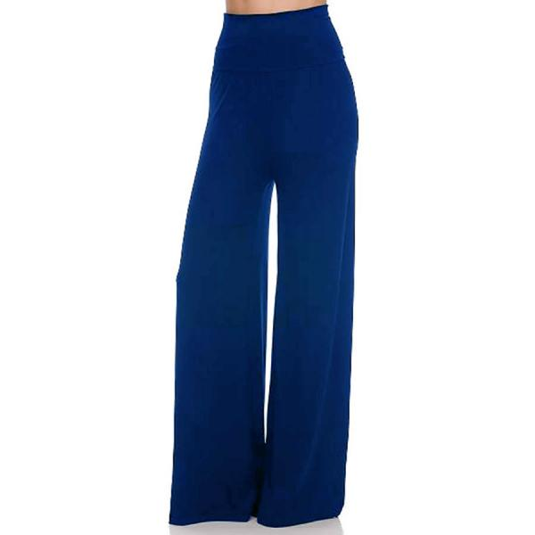 wholesale Palazzo Pants Solid Royal - M