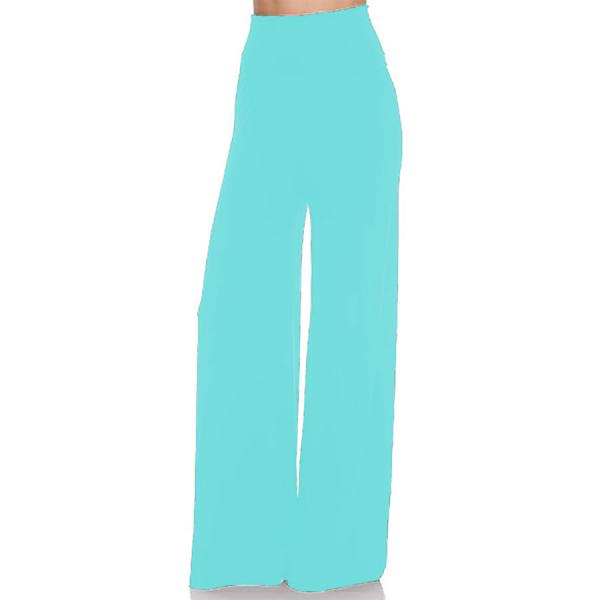 wholesale Palazzo Pants Solid Teal - L