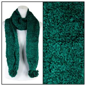 Wholesale  Green Oblong Scarf - Shearling Pom Pom 1052 -