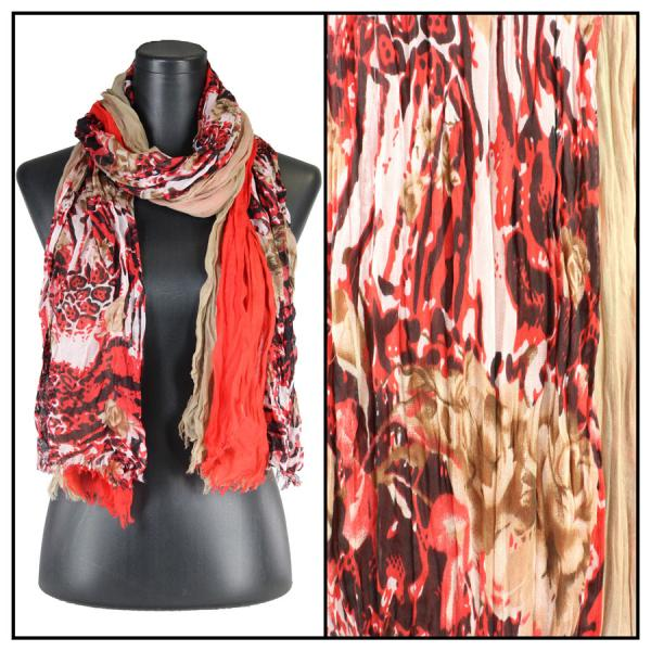 wholesale Oblong Scarves - Abstract Bohemian 1094 Multi Color 2 -
