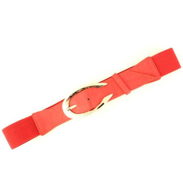 wholesale Fashion Stretch Belts 5111 - Red - ONE SIZE FITS (S-L)