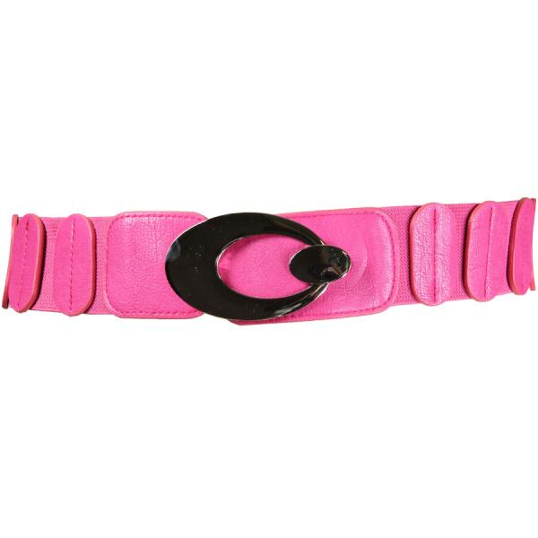 wholesale Fashion Stretch Belts J4022 - Hot Pink - ONE SIZE FITS (S-L)