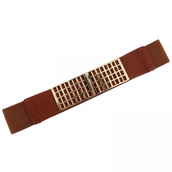 wholesale Fashion Stretch Belts Y5278 - Camel - ONE SIZE FITS (S-L)