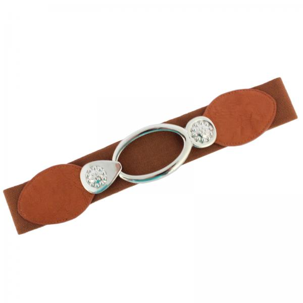 wholesale Fashion Stretch Belts Y5292 - Camel - ONE SIZE FITS (S-L)