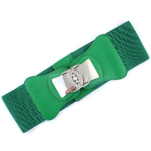 Fashion Stretch Belts 1066 - Green - ONE SIZE FITS (S-L)