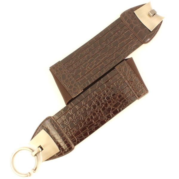 wholesale Fashion Stretch Belts LD1150 - Brown - ONE SIZE FITS (S-L)