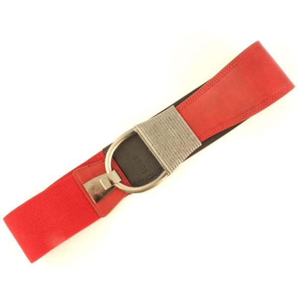 wholesale Fashion Stretch Belts N1193 - Red - ONE SIZE FITS (S-L)
