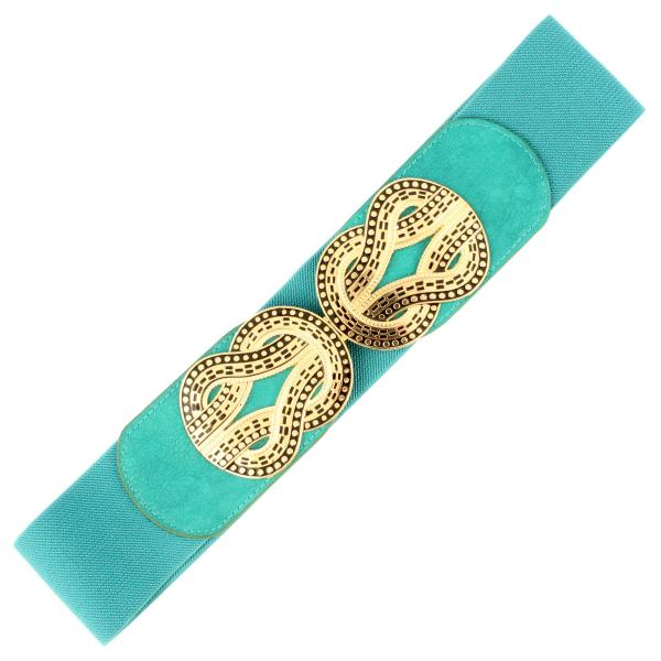 wholesale Fashion Stretch Belts S0025 - Emerald - ONE SIZE FITS (S-L)