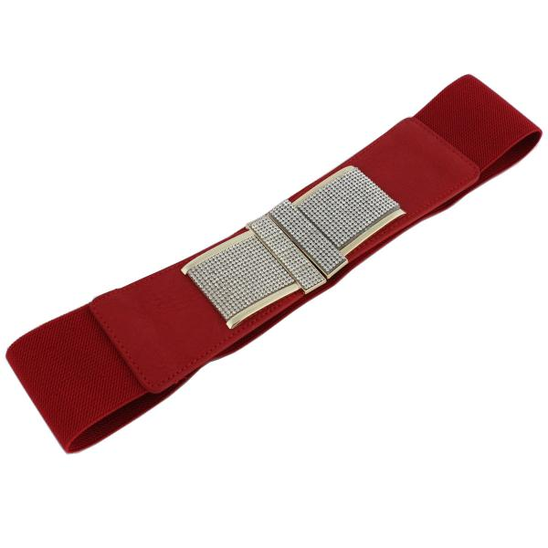 wholesale Fashion Stretch Belts S0123 - Red - ONE SIZE FITS (S-L)